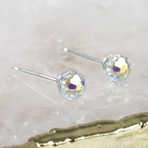 Iridescent Swarovski Crystal Ball Stud Earrings