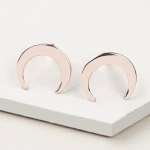 Rose Gold Sterling Silver Horn Stud Earrings