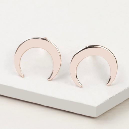 4b5fe1f15 Lisa Angel Ladies' Rose Gold Plated Sterling Silver Horn Stud Earrings