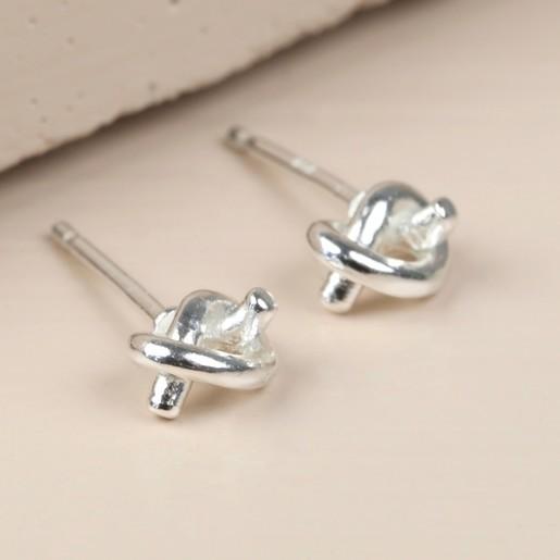 f85013078 Lisa Angel Ladies' Hypoallergenic Sterling Silver Tied Knot Earrings