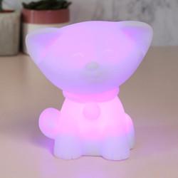 Cat Colour Changing Mood Night Light Uk