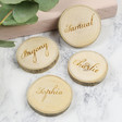 Lisa Angel Set of 4 Personalised Wooden Log Chip Place Settings