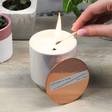 Lisa Angel Mini Iridescent Glow Cotton & Teak Scented Candle