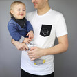 Lisa Angel Dad's Cotton Personalised Men's 'Your Drawing' T-Shirt