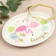 Lisa Angel Personalised Flamingo Trinket Dish