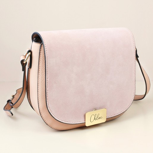 4d170aac90da Lisa Angel Ladies  Personalised Engraved Blush Pink Cross Body Handbag