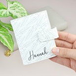 Personalised Feather Print Card Holder