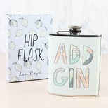 Pastel 'Add Gin' Hip Flask