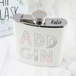 Personalised Pastel 'Add Gin' Hip Flask