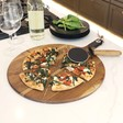 Lisa Angel Pizza Cutter & Serving Board Set
