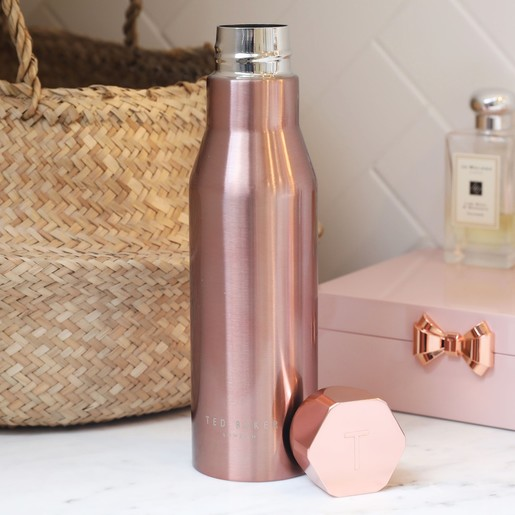 381d71d5fc07 Lisa Angel with Ladies  Ted Baker Hexagonal Travel Bottle in Rose Gold