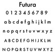 Lisa Angel Futura Font Options