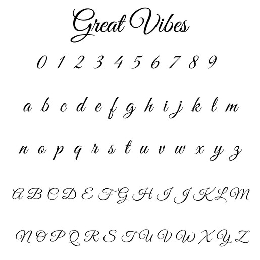 Great Vibes Font A To Z – Daily Motivational Quotes
