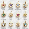 Lisa Angel Birthstone Charms in Gold