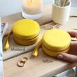Lisa Angel Mustard and Yellow Mini Round Travel Jewellery Cases