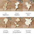 Lisa Angel Personalised Wooden Birth Flower Backed Sterling Silver Earrings