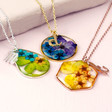 Personalised Pressed Flower Pendant Necklace