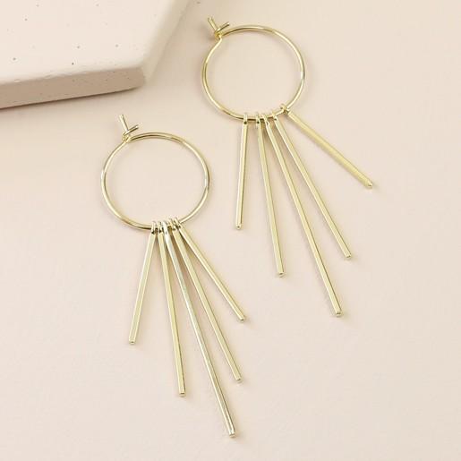 a51fba93c Lisa Angel Ladies' Statement Bars and Hoop Earrings in Gold