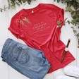 Lisa Angel Soft Cotton Personalised 'Full of Christmas Spirit' T-Shirt in Red