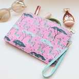 'Wild Thoughts' Zebra Beauty Pouch