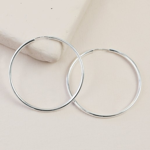 bab8b71d8 Lisa Angel Ladies' Small Sterling Silver 40mm Hoop Earrings