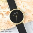 Lisa Angel Ladies' Personalised CLUSE La Roche Gold Watch in Black
