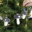 Lisa Angel Set of Three Grey Toadstool Hanging Decorations