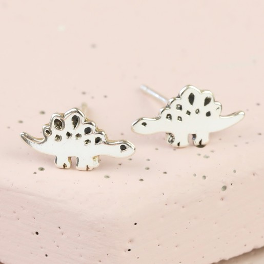 d1e81bd85 Sterling Silver Stegosaurus Dinosaur Stud Earrings | Lisa Angel