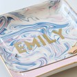 Ladies' Personalised Swirled Effect Trinket Dish