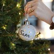 Lisa Angel Personalised Grey Name LED Ceramic Constellation Bauble