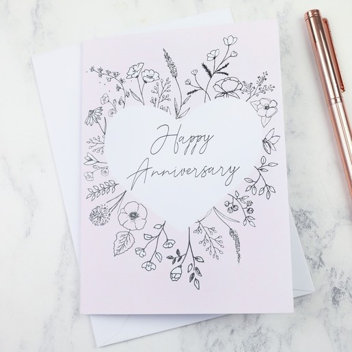 Floral happy anniversary greeting card lisa angel cards floral happy anniversary greeting card m4hsunfo