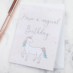 Magical Birthday Unicorn Greeting Card