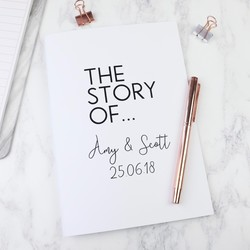 Personalised The Story Of A5 Notebook