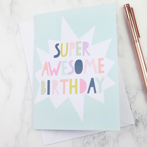 Super awesome birthday greeting card lisa angel cards super awesome birthday greeting card m4hsunfo