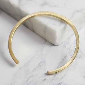 Brushed Gold Bar Bangle