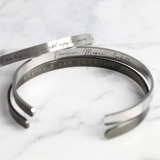 a4a47c9103369 Lisa Angel Men s Personalised Engraved Stainless Steel Torque Bangle