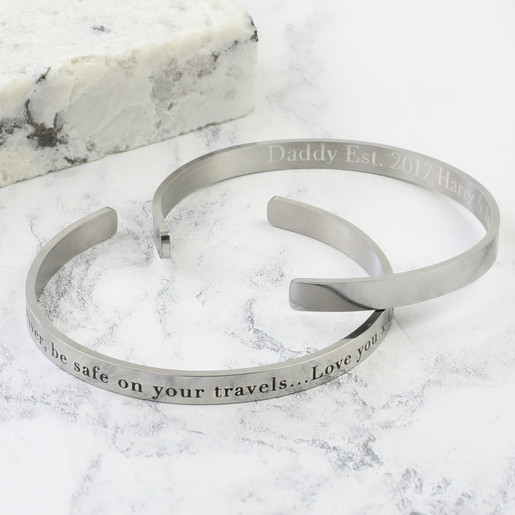 661465a02bd02 Men's Personalised Stainless Steel Torque Bangle