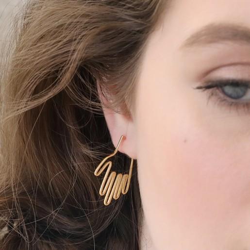 a5562c529 Small Hand Hoop Stud Earrings in Gold | Lisa Angel Jewellery