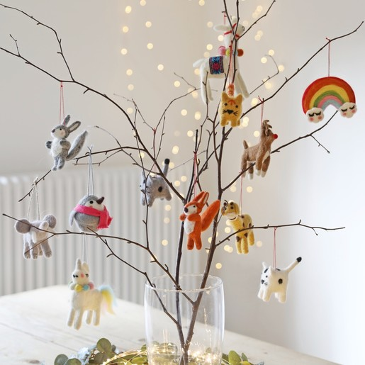 check out 8331f 2adc1 Felt Elephant Hanging Decoration