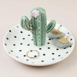 Polka Dot Cactus Jewellery Dish