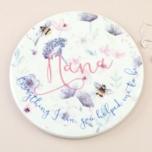 Floral 'Nana' Ceramic Coaster