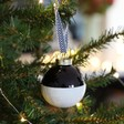 Lisa Angel Metallic Dipped Ceramic Bauble in Black