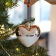 Lisa Angel Metallic Dipped Ceramic Heart Bauble in Rose Gold