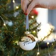 Lisa Angel Personalised Metallic Dipped Ceramic Bauble in Gold