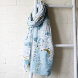 602be051f1 Map Scarves | Map Print Scarf | Lisa Angel