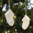 Lisa Angel Pair of Personalised Wooden Mittens Hanging Decorations