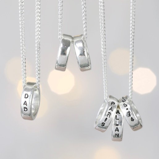 abced055bf9ef Men's Personalised Sterling Silver Disc Bead Necklace