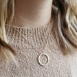 Lisa Angel Ladies' Hand-Stamped Personalised Vermeil Family Hoop Necklace