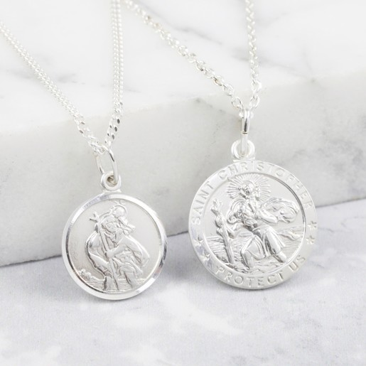 bcdaa3255a1 Lisa Angel Ladies' Sterling Silver St Christopher Pendant Necklace