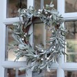 Lisa Angel Festive Frosted Faux Mistletoe Christmas Wreath